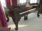 1885 Wm Kanabe Square Grand Piano And Bench With King Louie Legs