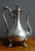 Antique France Late 19th Rare Minerva Louis Xv Style Jug In Silver 423 Gr