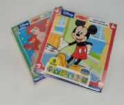 New Puzzle Lot 2 Melissa And Doug Disney Wood Block Puzzles/tray -12 Puzzles Total