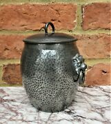 Liberty And Co Tudric Pewter Biscuit Jar Number 01065 Lion Handles C1910