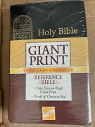 Kjv Giant Print Bible By Thomas Nelson 1991, Imitation Leather New In Wrap