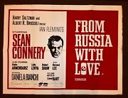 From Russia With Love United Artists1964uk Quad Re Release Poster 30 X 40