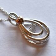 Fred Meyer Sterling Silver And Diamond Pendant Necklace 175.00 New