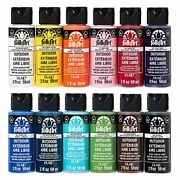 Folkart Outdoor Gloss Acrylic Craft Paint Set Designed For Beginners And Arti...