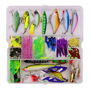 300pcs Fishing Tackles Set Pike Bass Lures Kit Jigs Earthworm Worms Gear