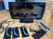 Playstation 3d Tv With 4 Official 3d Glasses And Remote