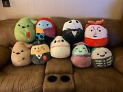 Nightmare Before Christmas Squishmallows Zero Jack Sally Oogie Boogie Lot Of 9