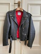 Moschino Peace Leather Biker Jacket 1990ies Mint Collectors Condition As New