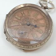 Antique Sterling Silver Fob Pocket Watch C/1890 - Serviced 46761