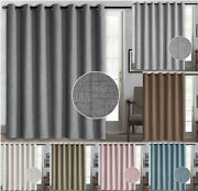 100 Blackout 1 Panels Lined Backing Heavy Thick Grommet Sliding Door Curtain
