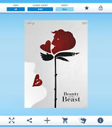 Topps Disney Collect - Hidden Illusions - Beauty And The Beast Rare Digital