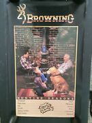 Vintage Browning Arms Co. Hunting Seasons Animal Chart Store Advertising Poster