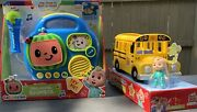 Cocomelon Jj My First Sing-along Boombox And Musical Yellow School Bus Bundle