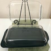 3. - Pyrex 2qt Rectangle Glass Dishes W/ Handles 1 Green Lid For Dishes 11x7x1.5