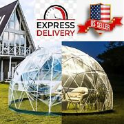 Vevor Bubble Tent Garden 12ft With Led Pvc Cover Geodesic Greenhouse For Outdoor