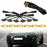 6pcs Smoked Len Amber Led Front Grille Running Lights W/wire For Ford F150 17-19