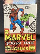 Rare 1978 Topps Marvel Super Heroes Stickers Wax Box Spiderman 🔥🔥 Bbce Sealed