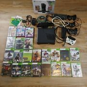 Microsoft Xbox 360andnbsp250gb Kinect Bundle Withandnbspconsole + 22 Games 4 Controllers