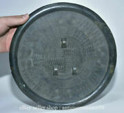 10.4 Rare Antique Chinese Bronze Ware Dynasty Palace 3 Hole Bronze Mirror