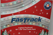 Lionel 2025080 Lighted Fastrack 40 By 50 Track Pack Oval