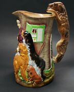 Vintage Burgess And Leigh Burleigh Ware Old Feeding Time Samuel Alcock Pitcher