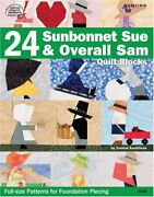 24 Sunbonnet Sue And Overall Sam Quilt Blocks By Connie Kauffman Excellent