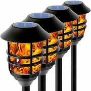 Flickering Flame Solar Pathway Flame Lights - Solar Lights Outdoor Torch Wate...