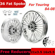 Fat Spoke Wheels 21x3.5 16x5.5 For Harley Touring Road King Flhr 1984-2008