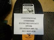 1 New Continental Extreme Contact Dws06 255 40 19 100 Xl Tires 15500050000