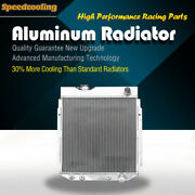 259b 3 Row 62mm At Aluminum Radiator For Ford Mustang Comet Falcon V8 1963-1966