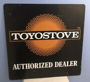 Vintage 1983 Toyostove Heaters Authorized Dealer 2x Sided Metal Sign 32x32andrdquo