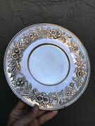 """S. Kirk And Son Sterling Silver Repousse Large Plate 727 Platter 449 Grams 10"""""""