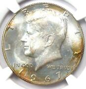 1967 Kennedy Half Dollar 50c Coin - Ngc Ms67 - Rare In Ms67 - 3150 Value