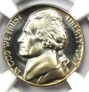 1967 Sms Jefferson Nickel 5c Coin - Certified Ngc Ms68 Cameo - 595 Value