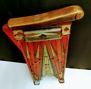 Antique Cast Iron Movie Theater Seat Right Hand Side Base End Plaque Art Deco
