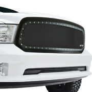 Rivet Grille Stainless Steel Wire Mesh Replacement Fit 13-18 Dodge Ram 1500