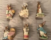 Beatrix Potterand039s Figurines Vintage Lot Of 6 - F. Warne And Co. Beswick England