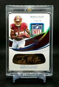 2019 Immaculate Terry Mclaurin Rookie Eye Black Gold Ink Auto 1/1 Nfl Shield Tag