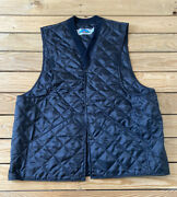 Gary Nesse Menandrsquos Snap Front Quilted Vest Size M/l Black N2