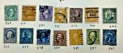 Old 19th Century Us Used Stamps Lot K - 9