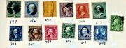 Old 19th Century Us Used Stamps Lot J - 72