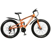 Shimanos 26fat Tire Mountain Bike Front Suspension 21-speed Mens Mtb Bicycle Us