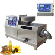 Electric Screw Oil Press Stainless Steel Press Oil Extractor Walnut Expeller