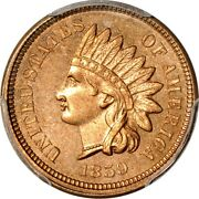 1859 1c Indian Head Cent Pcgs Ms64+ Prooflike Eeps 029