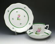 Herend Vrh Vienna Roses 707/0/00 Coffee Cup Saucer 517/0/00 Plate 19cm Set