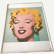 Andy Warhol Estate 1989 Marilyn Monroe Neues Publishing Aw Seal And Framed Poster