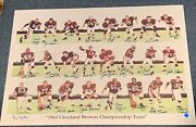 Cleveland Browns 1964 Championship Team Signed 24x34 Print Signed 24 + Jim Brown