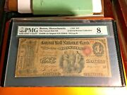 1865 Us Paper Money 5 Faneuil Hall National Banknote Ch847 Q David Bowers Coll