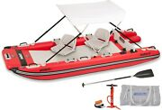 Sea Eagle Fast Catamaran Style Inflatable Boat Deluxe W/canopy And 2 Swivel Sweat