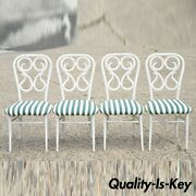 Vintage Metal Thonet Bentwood Austrian Style Bistro Dining Chairs - Set Of 4